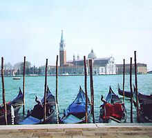 venice and gondolas by Mary Alice Franklin