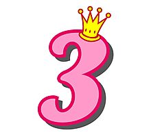 3rd birthday princess party theme and gifts Photographic Print