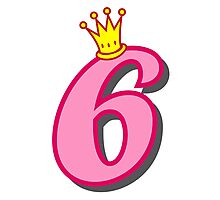 6th birthday princess party theme and gifts Photographic Print