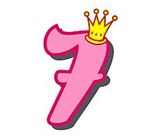 7th birthday princess party theme and gifts Photographic Print