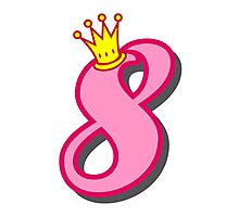 8th birthday princess party theme and gifts Photographic Print
