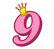 9th birthday princess party theme and gifts Photographic Print