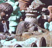 Antique Garden Statues by Mary Alice Franklin