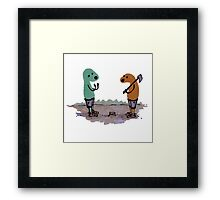 Two Charlie Dogs Keep It Cool Framed Print