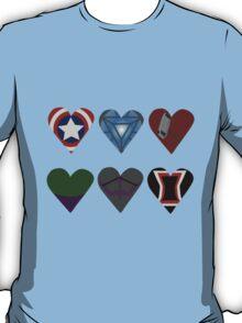 Avenger Hearts  T-Shirt