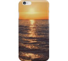 Sunset on Lake Michigan iPhone Case/Skin