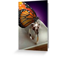 The Butterfly and the Engagement Ring Greeting Card