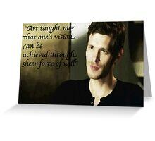 The Vampire Diaries Klaus Greeting Card