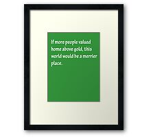 A Merrier Place - White Framed Print
