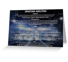 Halo 5: Guardians Spartan Abilities Greeting Card
