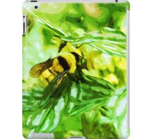 Honey Bee on Yellow Flowers Abstract Impressionism iPad Case/Skin