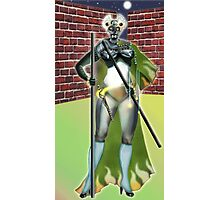 Digital Fantasy Figure Illustration: Cat's Eyes Photographic Print