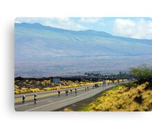 Long road ahead... Kona Ironman Canvas Print