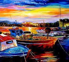 Harbor Sunrising Daniel Wall by Daniel Wall