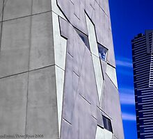 Federation Square & Red Stripe Building by FuriousEnnui