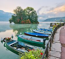 Annecy lake and the Swans Island by Patrick Morand