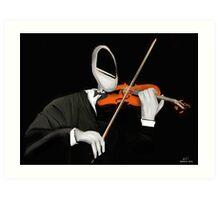 Corky the Violinist Art Print