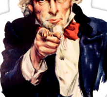 Uncle Sam poster - I want you to buy me a beer Sticker