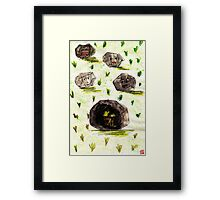 I stuck in the stone!!! Framed Print