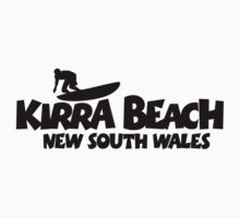 Kirra Beach New South Wales Surfing Kids Tee