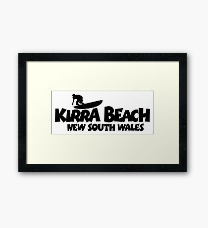 Kirra Beach New South Wales Surfing Framed Print