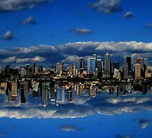 Abstract Sky City of Seattle v1 by Mark Payne