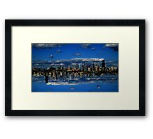 Abstract Sky City of Seattle v1 Framed Print