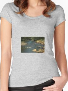 Rocky river bed Women's Fitted Scoop T-Shirt
