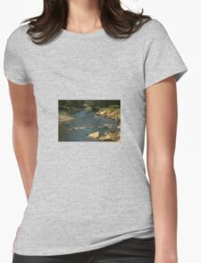 Rocky river bed Womens Fitted T-Shirt
