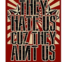 They Hate Us Cuz They Ain't Us by themarvdesigns