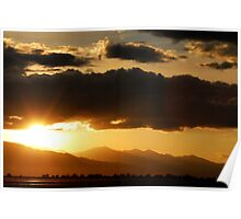 Sunset Near Provo Airport Poster