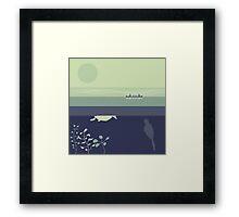 Ducks: Diving Framed Print