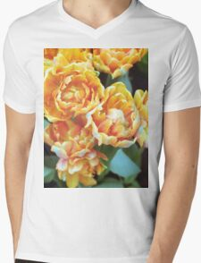 Blooming Tulips Mens V-Neck T-Shirt