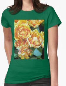 Blooming Tulips Womens Fitted T-Shirt