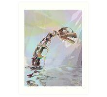 Monster of Loch Ness Art Print