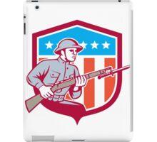 World War One Soldier American Retro Shield iPad Case/Skin