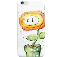 Fireflower Watercolor Painting iPhone Case/Skin
