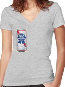 PBR Women's Fitted V-Neck T-Shirt