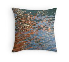 Crazy Boat Ripples Throw Pillow