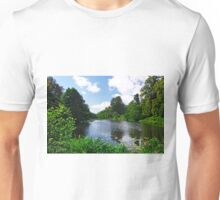 Along Mere Pond, Calke Park Unisex T-Shirt