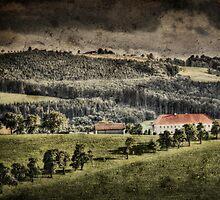 Landscape with farmhouse by Kurt  Tutschek