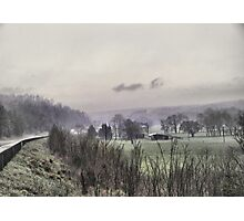 misted countryside Photographic Print