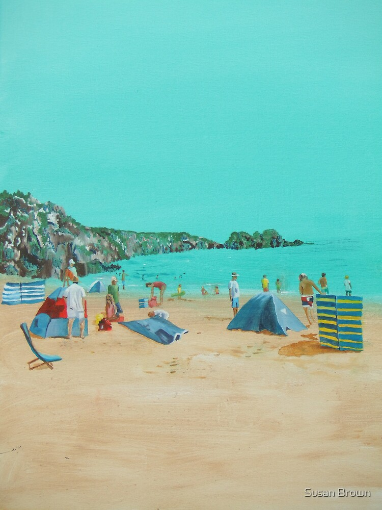 Day at the beach  by Susan Brown