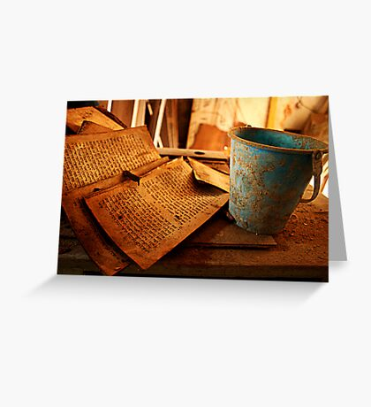 Text Decay Greeting Card