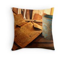 Text Decay Throw Pillow