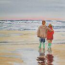 Children on the beach by Susan Brown