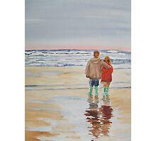 Children on the beach Photographic Print