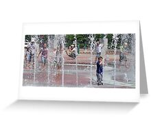 Kids in the Water Greeting Card