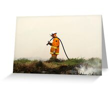 Lonely Fireman Greeting Card