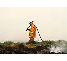 Lonely Fireman Photographic Print